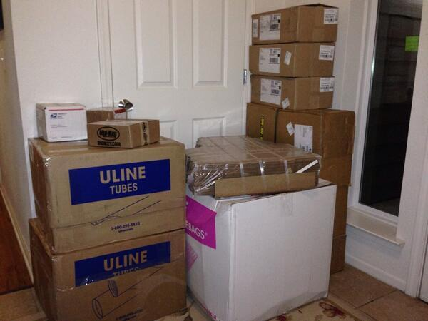 Boxing Supplies Arrive